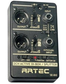 Artec 2 Channel Direct Box and Splitter