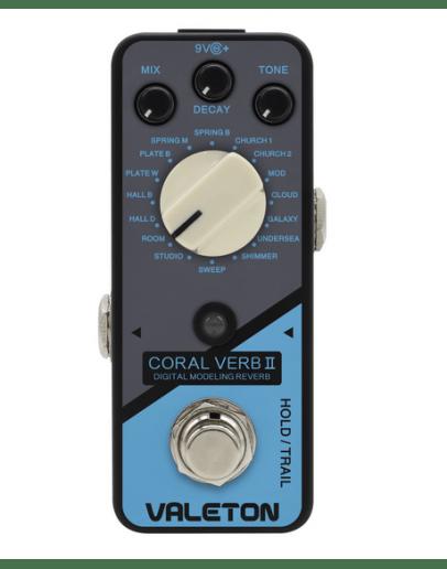 Valeton Coral Verb II Digital Modeling Reverb
